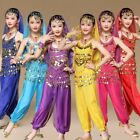 Children Belly Dancing Top Pants Suits Kids Girls Festival Party Fancy Costumes