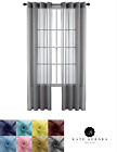 Basic Home Grommet Top Single Sheer Window Curtains - Assorted Colors & Sizes