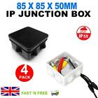 4X BLACK WHITE IP55 JUNCTION TERMINAL BOXES CCTV OUTDOOR WEATHERPROOF CABLE UK