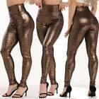 Womens PU Leather Pants Stretchy Hip Push Up Skinny Tight High Waist Leggings