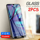 2Pcs For Huawei / Honor / Mate Tempered Glass Screen Protector Saver
