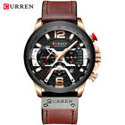 CURREN Casual Black Gold Watches for Men  Military Chronograph Wrist Watch Gift image