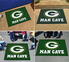 Green Bay Packers Man Cave Area Rug 4 Sizes Starter, Allstar,Tailgater,Ultimat $26.48 USD on eBay