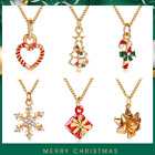 Fashion Christmas gift Necklace Snow crutch Christmas Tree Drops Oil Necklace