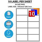 Address Labels White A4 Sheets Sticky Self Adhesive for Inkjet / Laser Printer