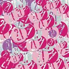 21st Pink Silver Sparkling Happy Birthday Party Decorations Ideas Supplies