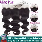 Bling Hair Lace Frontal Closure Brazilian Hair Body Wave 13x4 Free Part Remy