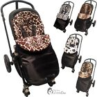 Animal Print Padded Pushchair Footmuff / Cosy Toes Compatible with Recaro