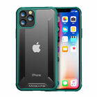 For iPhone 11/11 Pro/ 11 Pro MAX Hard Case AntiShock TPU + PC Clear Green Bumper