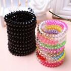 10 Pcs Plastic Hair Ties Spiral Hair Ties No Crease Coil Hair Tie Ponytail I7R9