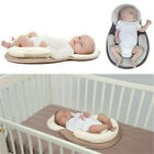 Newborn Crib Nest Bed Mattress Portable Baby Pillow Sleep Cushion Pad Breathable