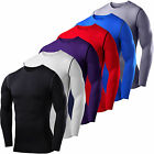 Mens Compression Base Layer Tee T-shirt Thermal Long Sleeve Under Shirt Body Top image