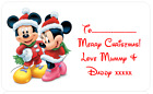 PERSONALISED+STICKERS+CHRISTMAS+XMAS+PRESENT+LABEL+DISNEY+MICKEY+MOUSE+MINNIE