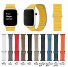 Magnetic Leather Loop Strap Band For Apple Watch Series 1/2/3/4/5 38/40/42/44MM image