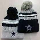 Dallas Cowboys Pom Pom Beanie Skull Cap Hat Embroidered DAL $18.85 USD on eBay