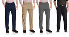New! Haggar Men's In Motion Performance Stretch Pant Straight Fit | E3