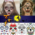 Halloween Face Paste Halloween Horror Tattoo Paste Stage Color Makeup Sticker $5.29 USD on eBay