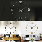3D Large Wall Clock Frameless Mirror Number Sticker DIY Art Modern Decal Decor