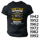 Vintage Men's Funny T shirt Unique Gift Birthday 40th 50th 60th Bday Dad Grandpa
