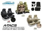 A-TACS Camo Tactical Cordura Ballistic Front Custom Seat Covers for GMC Sierra