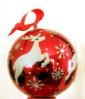 "Waterford Holiday Heirlooms  BALL glass Christmas  Ornament 4"" NEW in Box"