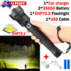 XHP70.2 LED Flashlight Tactical Zoom 3 Mode Most Powerful Lamp USB Hunting Torch