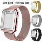 for Apple Watch Series 5 4 3 2 1 Stainless Steel iWatch Band Strap + Case Cover image