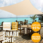 Sun Shade Sail Patio Cloth Rectangle Outdoor Canopy Block Top Cover Waterproof