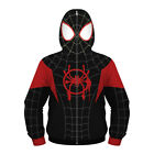 Kids Spider-Man Miles Morales Hoodie Coat Spiderman Sweatshirt Cosplay Costume