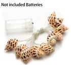 1.2m 10led Battery Operated Sea Shell Holiday Decoration Home String Lights