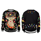 Christmas Xmas Jumper Sweater Novelty Jumpers Retro Santa Reindeer Sweatshirts