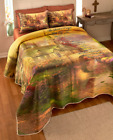 Lords Prayer King or Queen Size Bedding Quilt Set Thomas Kincaid Art Faith Cover image