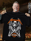 Metallic Motor Harley Davidson Cycles Skeleton T-Shirt image