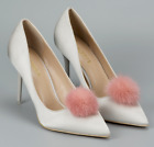 a pair Mink Fur Pom Pom Shoe Clips Accessory Fluffy Ornament Heels Boots Charm
