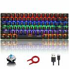 Mechanical Keyboard AK33 Rainbow LED Backlit USB 82-key Compact for Gamer Typist