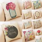 Home Decor Cushion Cover Hello Spring Floral Throw Pillowcase Pillow Covers UK $11.56 USD on eBay