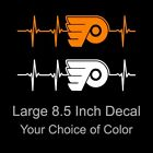 Philadelphia Flyers Heartbeat Vinyl Decal/Sticker Large 8.5 Inch - Eagles Sixers $5.49 USD on eBay