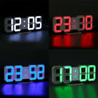 Christmas LED Digital 3D Alarm Table Wall Clock Dimmer Snooze Timer Holiday Gift