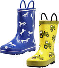 Norty New Toddlers / Little / Big Kids Boys Girls Waterproof Rubber Rain Boots