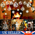Reusable White Christmas Snowflake Window Stickers Decorations Cling Decal Decor