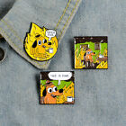 Fire THIS IS FINE Enamel Pins Cartoon Dog Brooch Lapel Pin Funny Animal Badge image