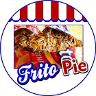 Frito Pie DECAL Choose Your Size Concession Food Truck Circle Vinyl Sticker