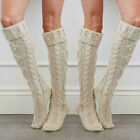 US STOCK Women Girl Wool Winter Warm Knit Over The Knee Socks Stockings Tights