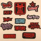 2× Red Letter Badge Embroidery Iron on Patch Cool Emblem Hat Bag Clothes Crafts $1.96 USD on eBay
