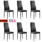 6/7 set Dining Room Glass Dinning Table Dining Chairs Leather Kitchen Furniture