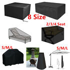 Extra Large Garden Rattan Outdoor Furniture Cover Patio Table Seater Sofa Cover