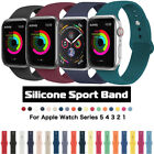 Silicone Sports Strap iWatch 5/4/3/2/1 Apple Watch Band Bracelet 38/42/40/44mm image