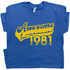 40th Birthday T Shirt Awesome Since 1980 Tee Funny Vintage Saying Cool Gift For image