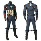 Halloween Avengers 4 Endgame Captain America Cosplay Costume Men Outfits Suits