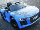 LICENSED AUDI R8 12V KIDS RIDE ON JEEP REMOTE CONTROL CAR LED DOOR OPEN UK